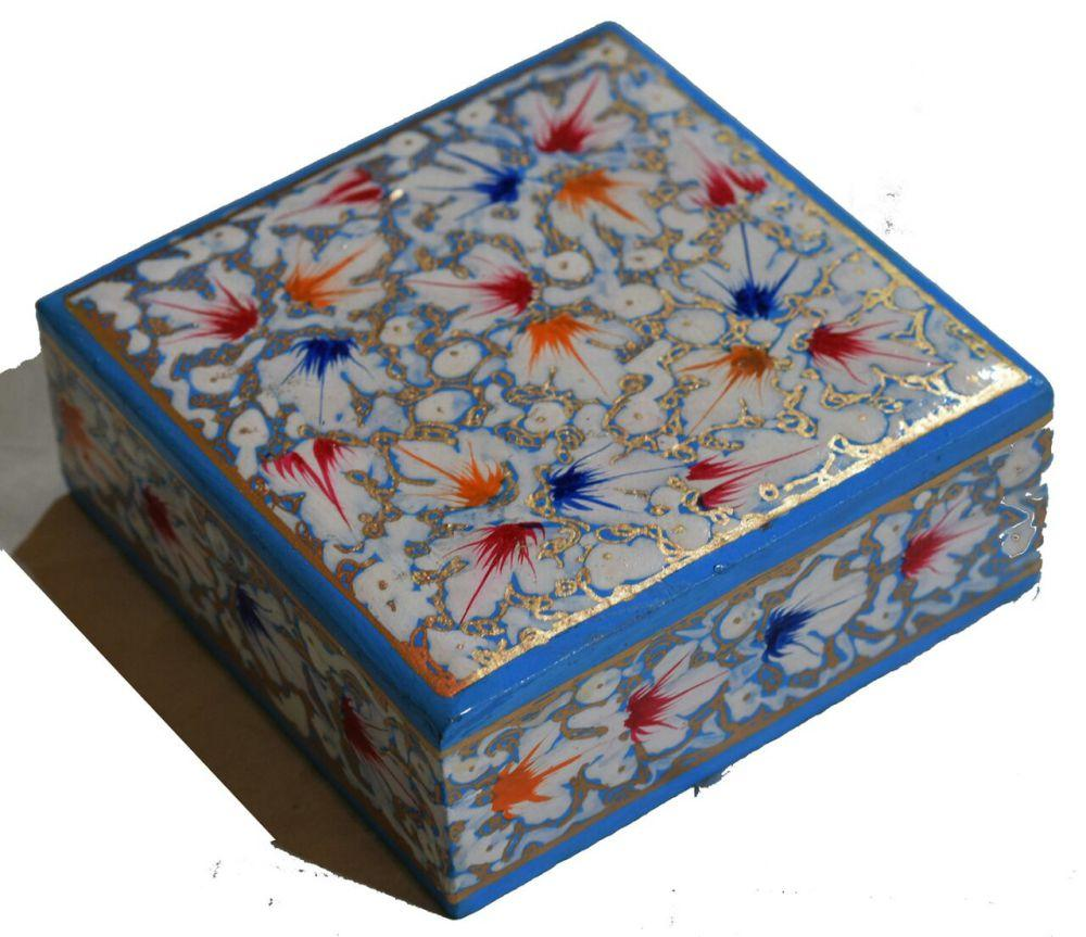 IndicHues Small Paper Mache Jewelry Box