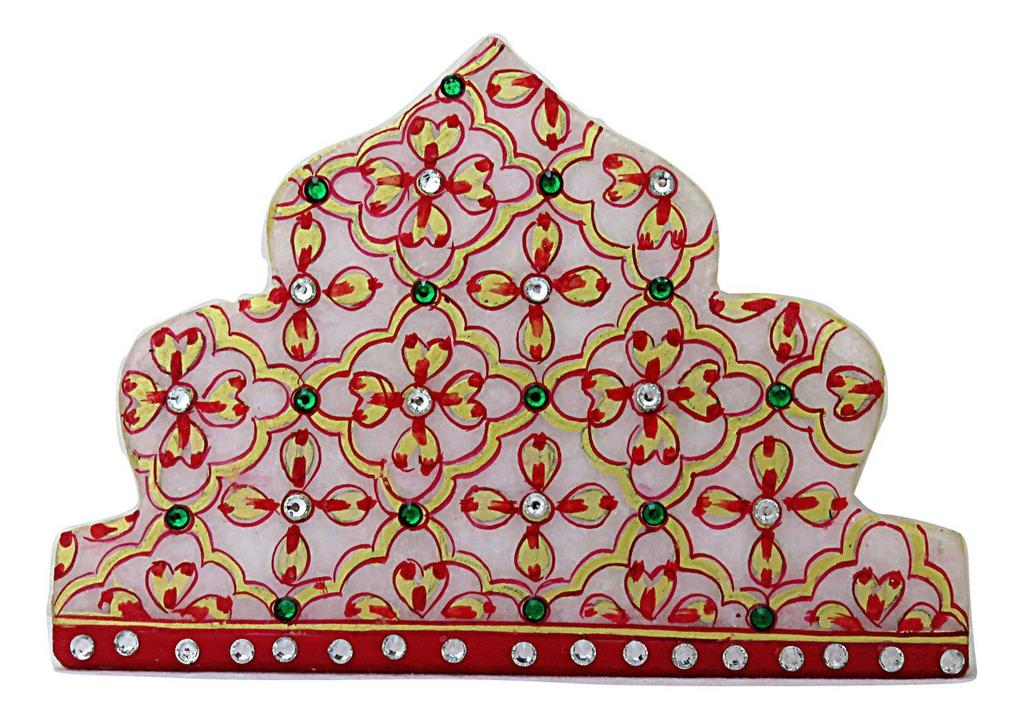 IndicHues Handmade Marble Meenakari Tissue Paper Napkin Holder