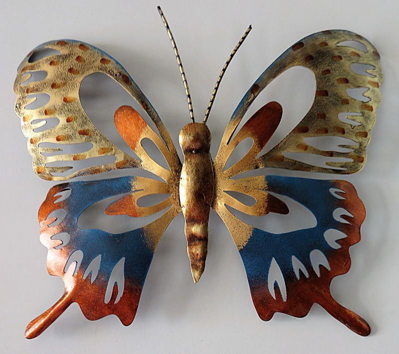 IndicHues Wrought Iron Handicraft Contemporary Butterfly Wall Art