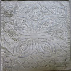 IndicHues White Cotton Applique Cushion Cover 16x16