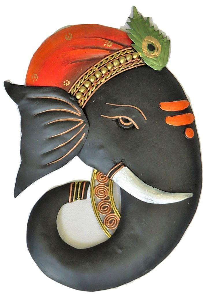 IndicHues Ganesha Wall Art in Wrought Iron