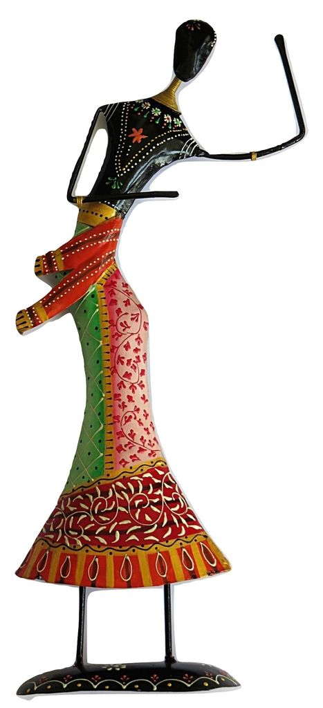 IndicHues Handmade Wrought Iron Large Dancing doll