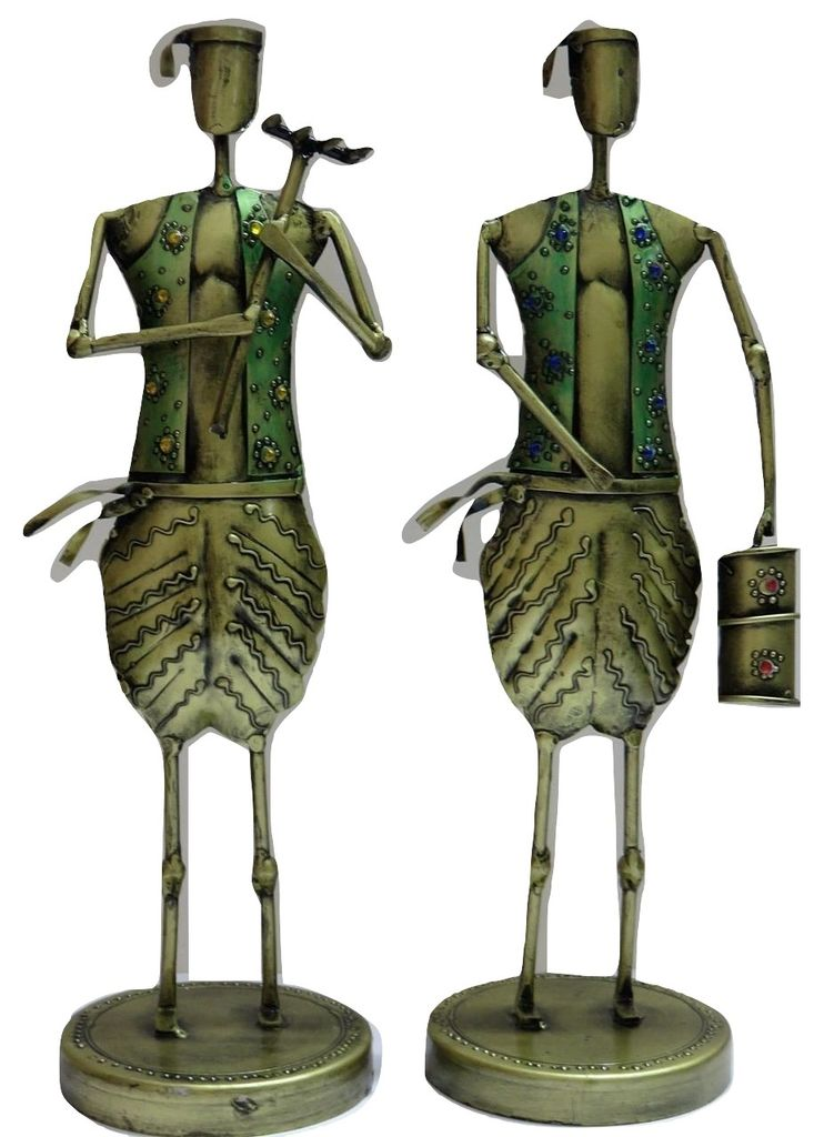 IndicHues Wrought Iron Metal Farmers Set of Two