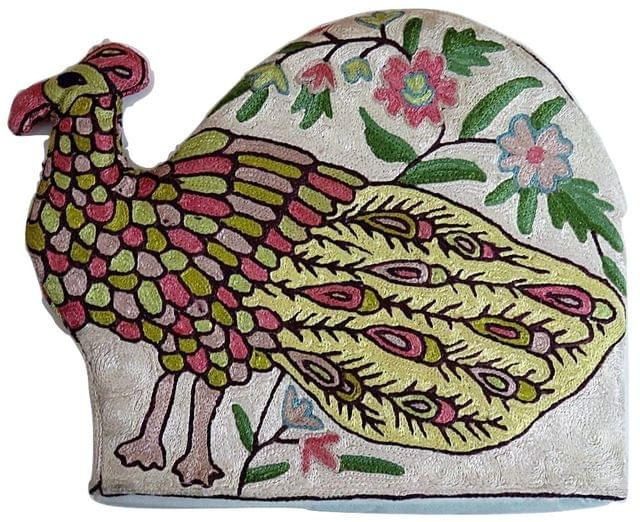 IndicHues Hand Embroidered Tea Cosy for Teapot/ Kettle with Crewel work from Kashmir