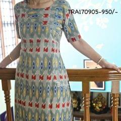 Trayee Multi-Colour Ikkat Cotton Kurta