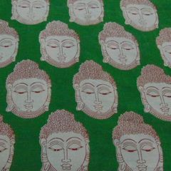 Aarika  Kalamkari Cotton Material with Buddha Prints