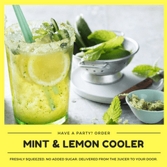 Kid-friendly Freshly Made Lemon-Mint Cooler (Min order 30 units)