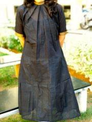 Trayee Black Mangalagiri Kurta/Dress