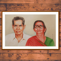 Kadaiveedhi Coloured Pencil Painting of Endless Love