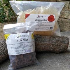 Wild Ideas Organic Vadam - Varagu (Kodo Millet) Yelai Vadam and  Ragi  (Rice Ragi Chilli) Vadam
