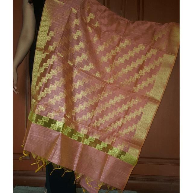 Kadaiveedhi Silk Cotton Rajputhri Zari Work Dupatta