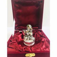 Smile Decors Silver/Gold Plated Radha Krishna On Lotus