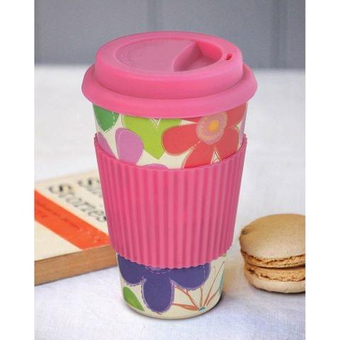 Freelance Bamboo Fibre Travel Mug, 400ml, Pink FTC-JH052PINK