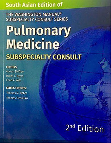 The Washington Manual Pulmonary Medicine 2016 by Shifren