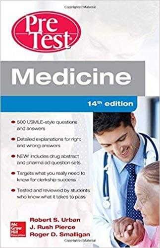 Medicine PreTest Self Assessment and Review 4th Edition 2015 by Robert Urban
