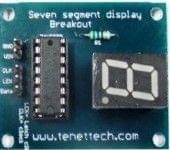 Seven segment display with 1 shift Register breakout board