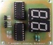 Seven segment display with 2 shift Register breakout board