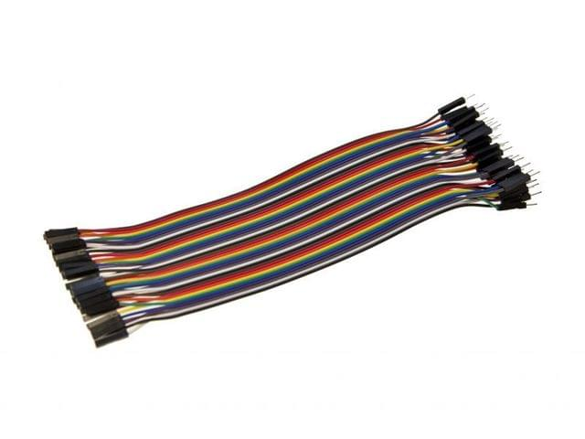Male to Female Jumper Wires   ( Pack of 40 )