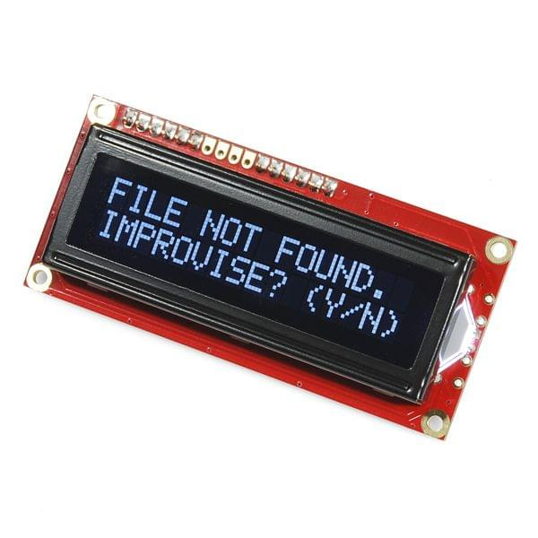 SparkFun Serial Enabled 16x2 LCD - White on Black 3.3V