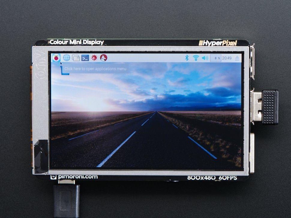 "Pimoroni HyperPixel - 3.5"" Hi-Res Display for Raspberry Pi"