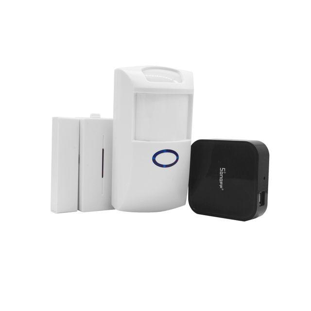 Sonoff RF Bridge 433 + PIR2 PIR Sensor + DW1 Door And Window Alarm Sensor + RF Remote