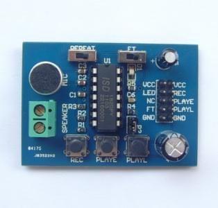 The ISD1820 voice board voice module telediphone module on-board microphone