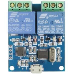 LCUS-2 dual 2-road USB relay module USB intelligent control switch
