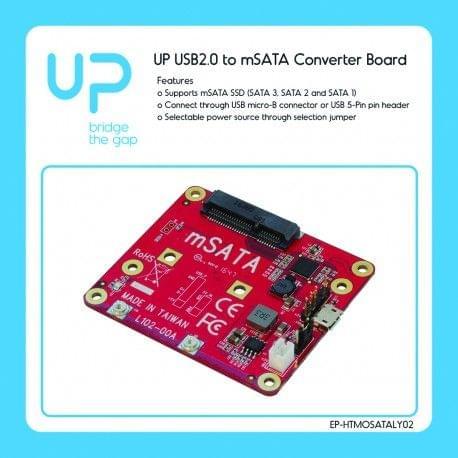 UP USB2.0 to m-SATA Converter board