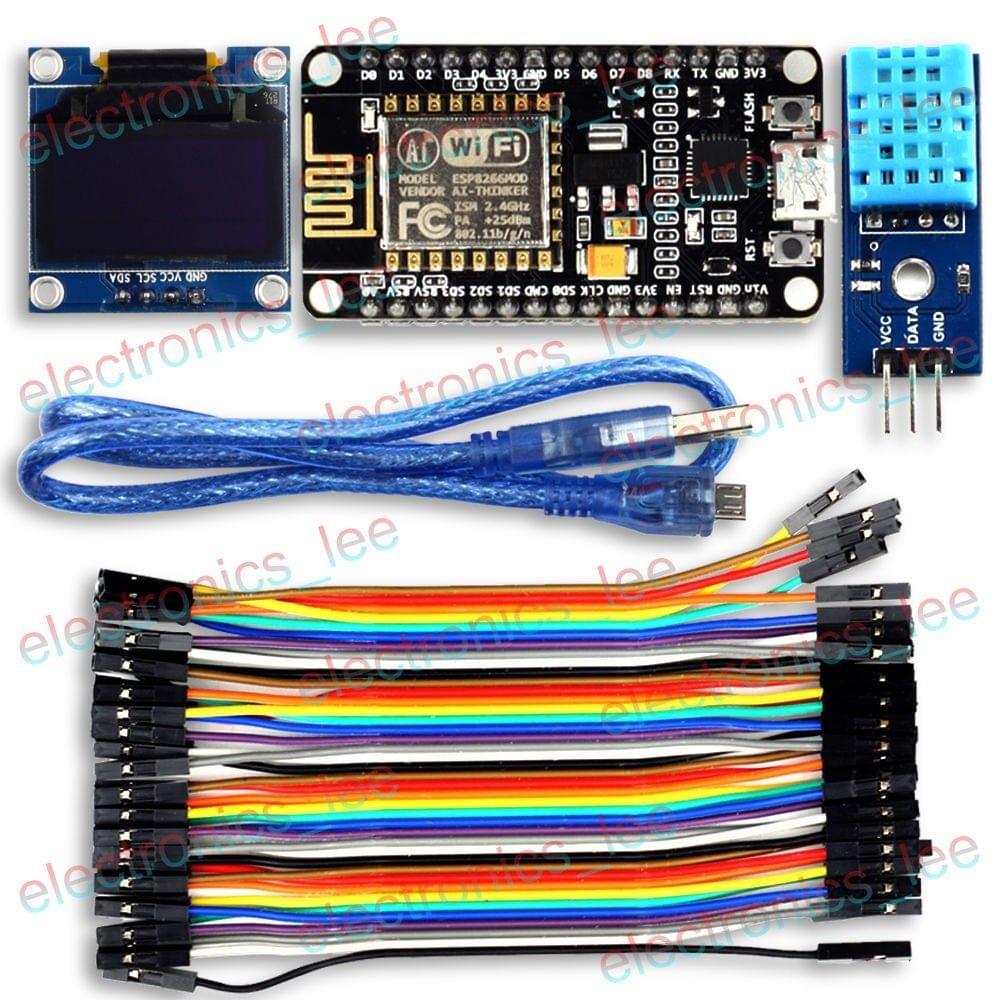"UCTRONICS ESP8266 ESP-12E IoT Weather Station 0.96"" OLED DHT11 for Arduino IDE"