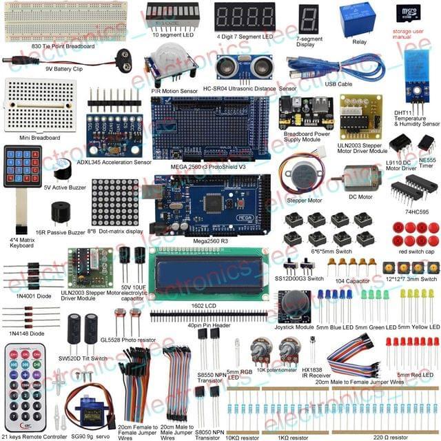 UCTRONICS Ultimate Kit 33 project for Arduino Mega2560 R3 Servo Sensor LCD1602