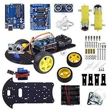 UCTRONICS Smart Robot Car Kit for Arduino Automatic Avoidance of Obstacles with UNO R3, 2-wheel Drives, HC-SR04 Ultrasonic Sensor, L293D Motor Control Shield, Micro Servo Motor 9g