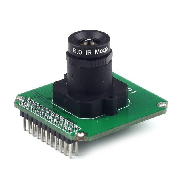 1pcs MT9M001 1.3Mp HD CMOS Monochrome Camera Module M12 Mount 6mm Lens