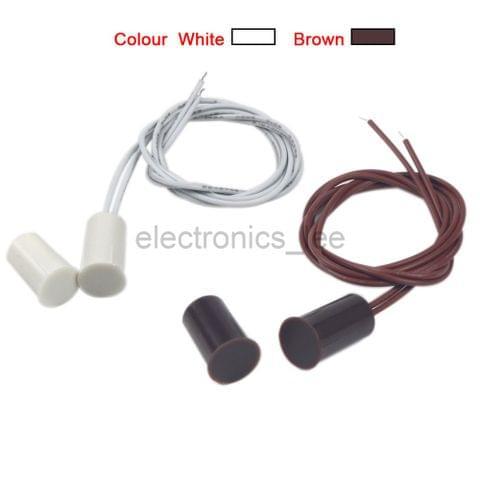 10pcs DC100V RC-33 Embedded Magnetic Door Alarm Hidden Sensor White Brown