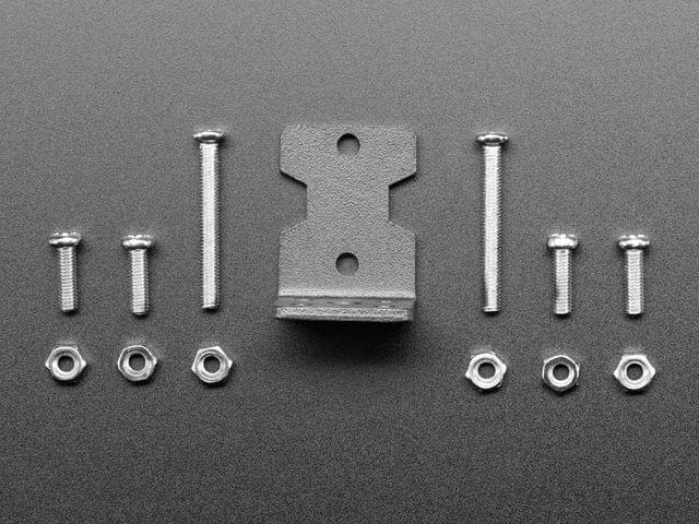Motor Mount for TT Gearbox DC Motors - L-Bracket Type