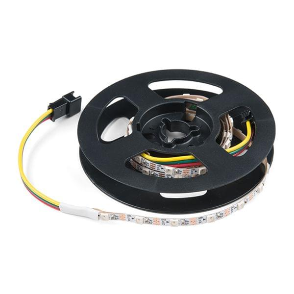Skinny LED RGB Strip - Addressable, 1m, 60LEDs (SK6812)