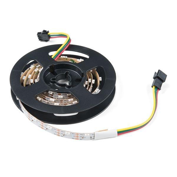 Skinny Side-Lit LED RGB Strip - Addressable, 1m, 60LEDs (SK6812)