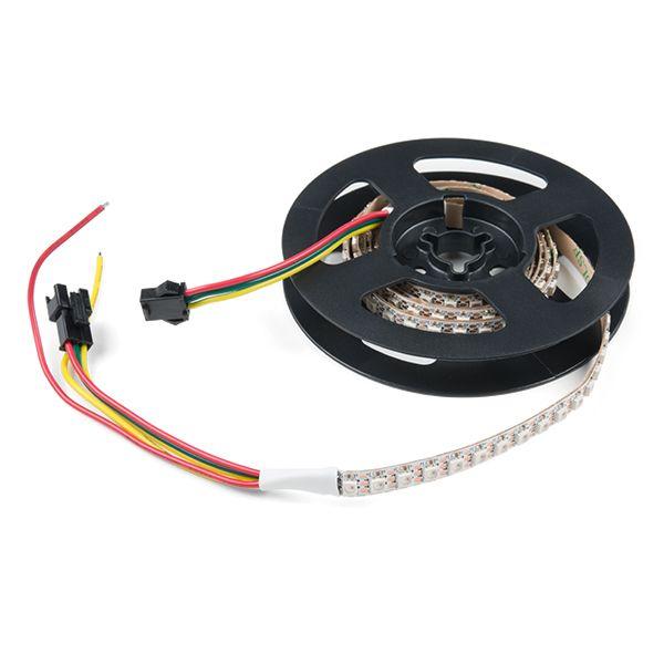 Skinny LED RGB Strip - Addressable, 1m, 144LEDs (SK6812)