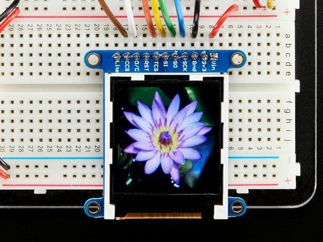 "Adafruit 1.44"" Color TFT LCD Display with MicroSD Card breakout - ST7735R"