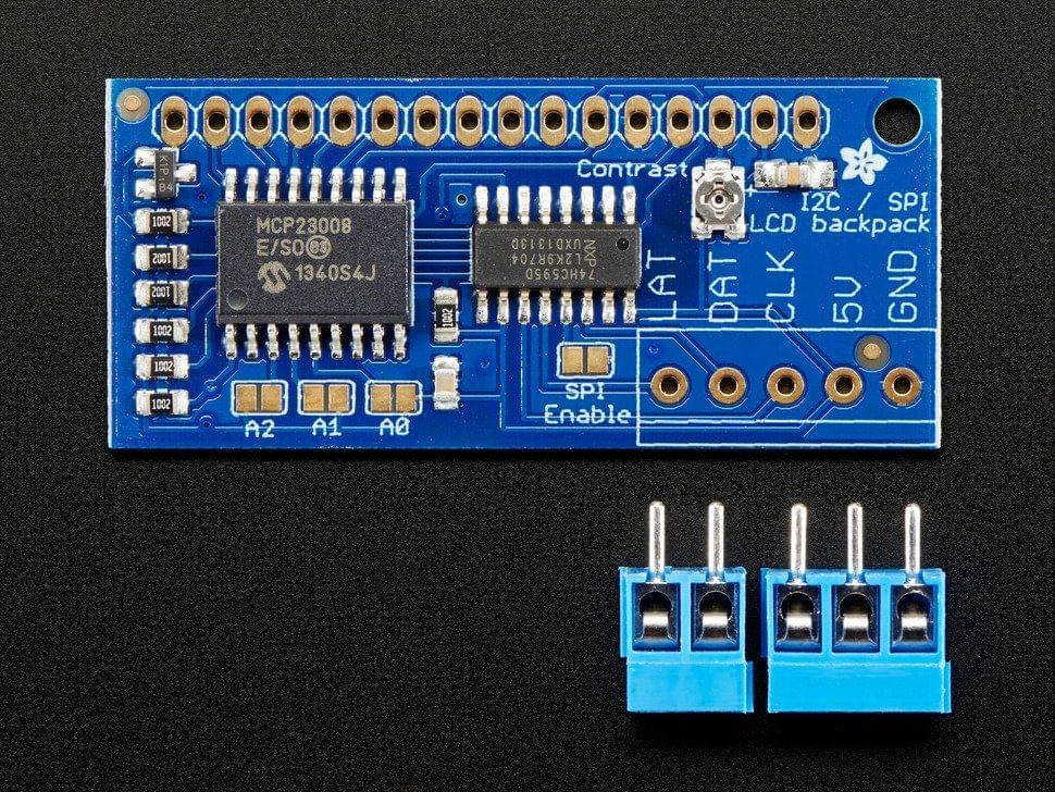 i2c / SPI character LCD backpack