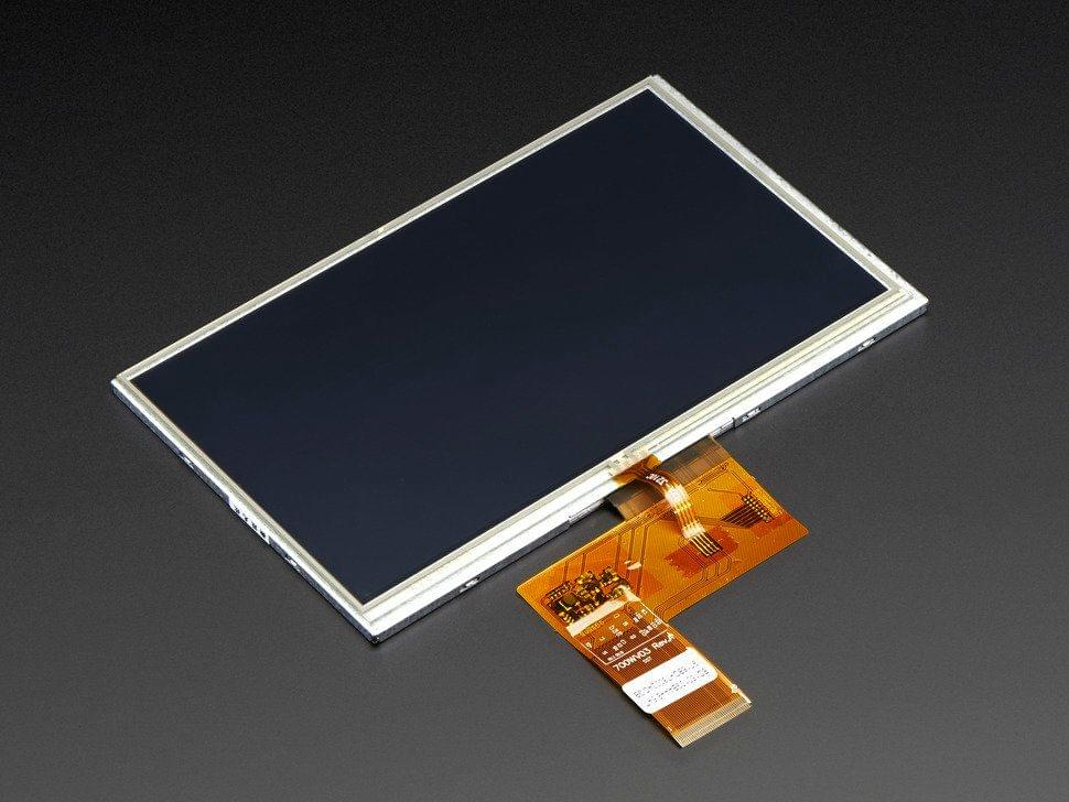 """7.0"""" 40-pin TFT Display - 800x480 with Touchscreen"""