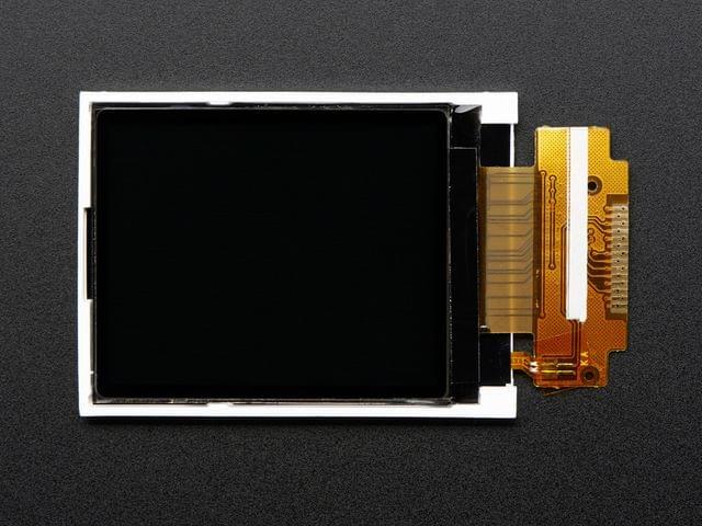 """1.8"""" SPI TFT display, 160x128 18-bit color - ST7735R driver"""