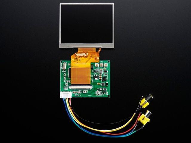 """NTSC/PAL (Television) TFT Display - 3.5"""" Diagonal"""