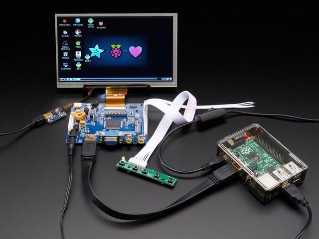 """HDMI 4 Pi: 7"""" Display & Audio 1024x600 w/Touchscreen"""