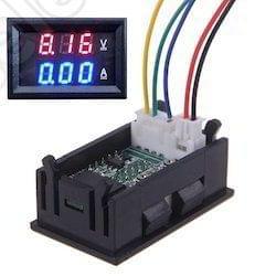 Digital Voltmeter Ammeter DC 0-100V 10A Monitor Panel