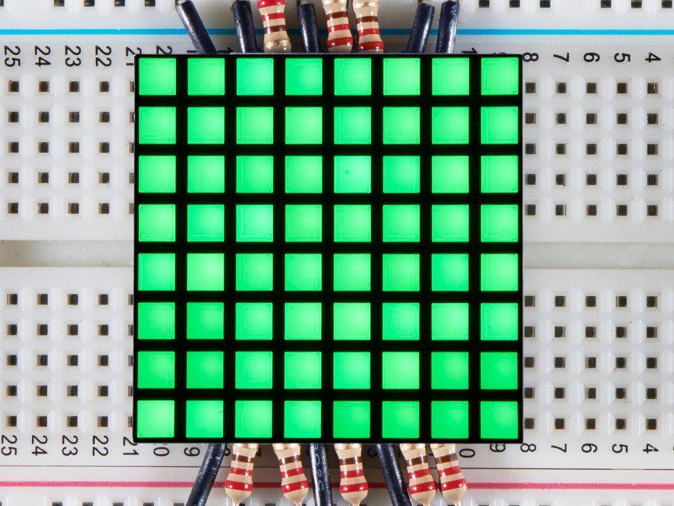 "1.2"" 8x8 Matrix Square Pixel - Pure Green - KWM-R30881CPGB"