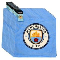 Manchester City FC Waschlappen , Handtuch ( 12 Stück )