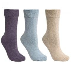 Trespass Damen Alert Thermo-Socken / Stricksocken, 3er-Pack