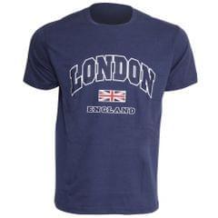 Herren T-Shirt mit London-England-Aufdruck, kurzärmlig, Rundhals