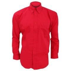 Kustom Kit Corporate Oxford Herren Hemd, Langarm