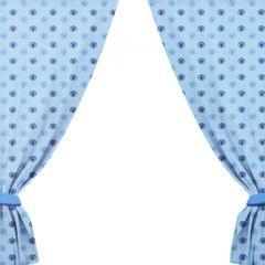 Manchester City FC Repeat Club Wappen Design Vorhang